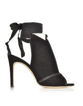 Olgana | La Jolie - Черные Замшевые Туфли-Лодочки на Высоком Каблуке | Clouty