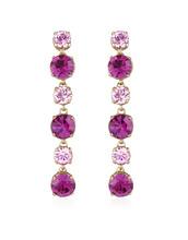 AZ Collection   Серьги с  Розовыми и Аметистовыми Кристаллами   Clouty