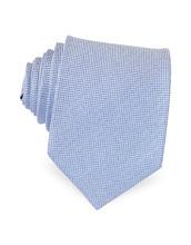 Forzieri Exclusives | Голубой Галстук из Текстурного Шелка | Clouty
