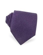 Forzieri Exclusives | Однотонный Фиолетовый Галстук из Кашемира | Clouty