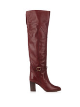 Chloé | Lenny leather knee-high boots | Clouty