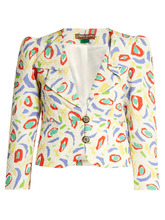 Duro Olowu | Abstract bird-print cloque jacket | Clouty