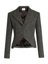 Hillier Bartley | Hound's-tooth checked wool jacket | Clouty