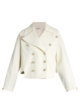 LANVIN | Double-breasted cotton-blend gabardine jacket | Clouty