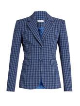 Altuzarra | Fenice checked seersucker blazer | Clouty