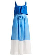 Diane Von Furstenberg | Colour-block cotton and silk-blend dress | Clouty