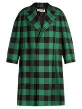 Balenciaga | Godfather checked oversized coat | Clouty