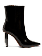 VETEMENTS | Reflector-heel leather ankle boots | Clouty