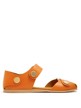 Stella McCartney | Collection stud-embellished faux-leather sandals | Clouty