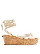 Jimmy Choo | Norah rope flatform sandals | Clouty