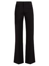 Chloé | Flared-leg wool-crepe trousers | Clouty