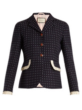 GUCCI | Geometric-pattern wool jacket | Clouty