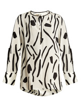 Diane Von Furstenberg | Chatham-print silk crepe de Chine blouse | Clouty