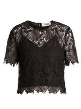 Diane Von Furstenberg | Leaf and floral macrame-lace top | Clouty
