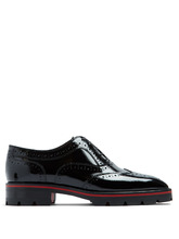 Christian Louboutin | Charletta patent-leather brogues | Clouty