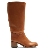 A.P.C. | Iris block-heel leather knee-high boots | Clouty