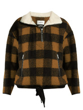 Isabel Marant Étoile | Gilas zip-neck checked jacket | Clouty