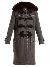 Altuzarra | Gardano faux-pearl embellished wool coat | Clouty
