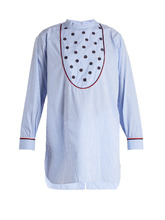 Jupe By Jackie   Bennicassim embroidered gingham cotton shirt   Clouty