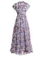 Temperley London | Elsa V-neck floral-jacquard gown | Clouty