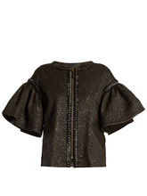 Andrew Gn | Bell-sleeved embellished cloque jacket | Clouty