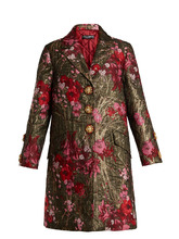 Dolce & Gabbana | Single-breasted floral-jacquard coat | Clouty