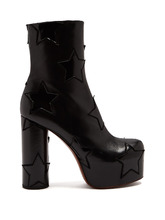 VETEMENTS | Star-applique block-heel leather boot | Clouty
