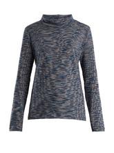 A.P.C. | High-neck space-dye cotton-jersey top | Clouty