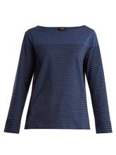 A.P.C. | Liz striped cotton-blend top | Clouty