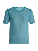 Bottega Veneta | Round-neck short-sleeved wool-blend sweater | Clouty
