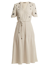 Bottega Veneta | Embroidered crepe dress | Clouty
