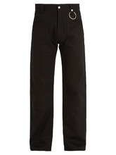 GIVENCHY | Straight-leg cotton-drill trousers | Clouty