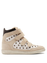 Isabel Marant   Bilsy concealed-wedge suede trainers   Clouty
