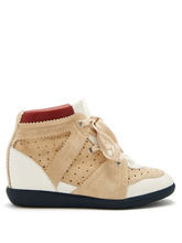 Isabel Marant   Betty concealed-wedge suede trainers   Clouty