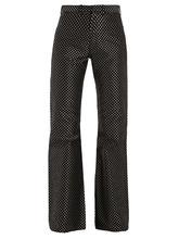 MARQUES'ALMEIDA   Kick-flare polka-dot jacquard trousers   Clouty