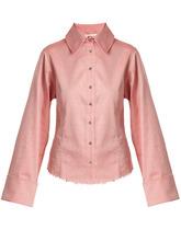 MARQUES'ALMEIDA   Raw-hem cotton-chambray shirt   Clouty