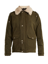 SAINT LAURENT | Shearling-collar cotton-blend gabardine parka | Clouty