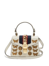 GUCCI | Sylvie mini embellished leather shoulder bag | Clouty