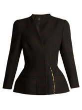 Haider Ackermann | Calder corset-stitched hourglass wool jacket | Clouty