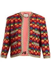 GUCCI | Amore-applique velvet jacket | Clouty