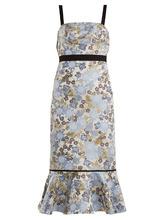 Erdem | Eunice floral-jacquard dress | Clouty