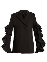 Ellery | Gold Band double-breasted ruffle-trimmed jacket | Clouty