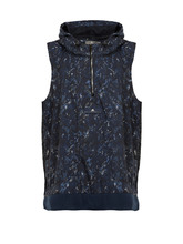 adidas by Stella McCartney | Run Adizero abstract camouflage-print gilet | Clouty