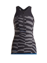 adidas by Stella McCartney | Train Miracle tiger-stripe print tank top | Clouty
