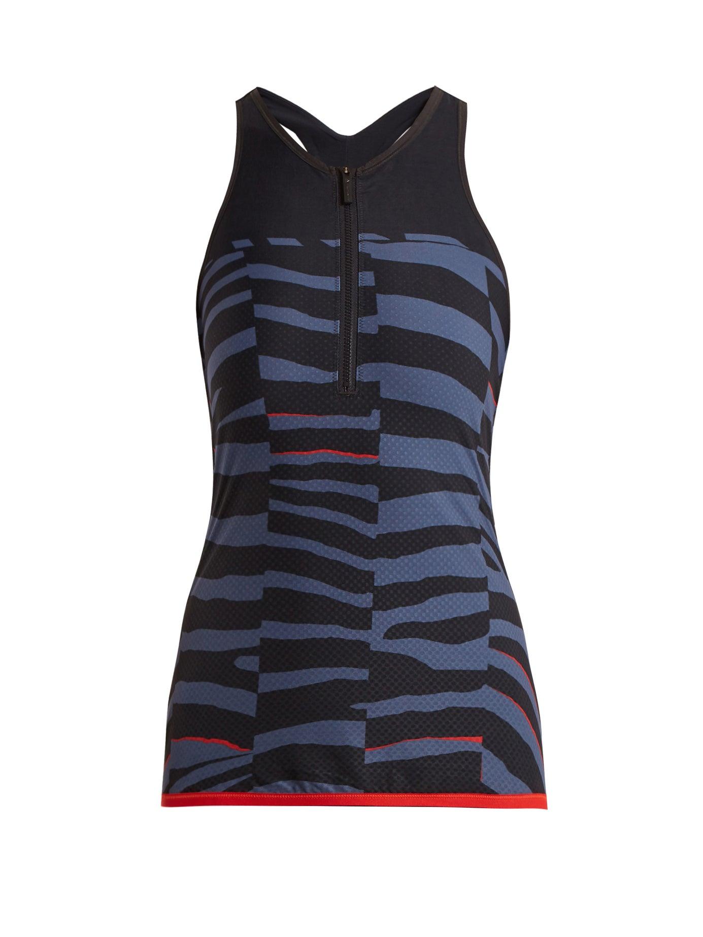 adidas by Stella McCartney | Train Miracle tiger stripe-print tank top | Clouty