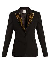 Hillier Bartley | Barathea contrast-lapel wool-blend blazer | Clouty