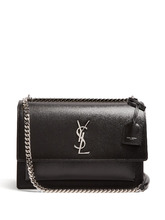 SAINT LAURENT | Sunset large leather shoulder bag | Clouty