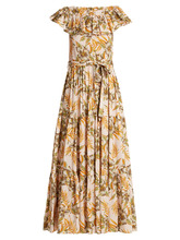 LA DOUBLEJ EDITIONS | Floral-print stretch-woven dress | Clouty