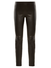 GIVENCHY | High-rise zip-cuff leather leggings | Clouty