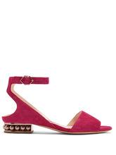Nicholas Kirkwood | Lola pearl-heeled suede sandals | Clouty